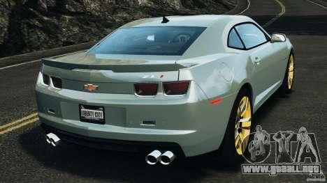 Chevrolet Camaro ZL1 2012 v1.2 para GTA 4 Vista posterior izquierda