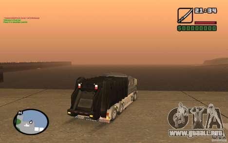 Camión Scania T164 para GTA San Andreas vista posterior izquierda