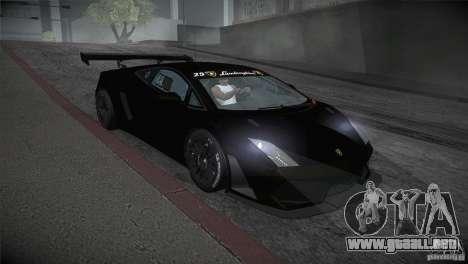 Lamborghini Gallardo LP560-4 GT3 para GTA San Andreas vista hacia atrás