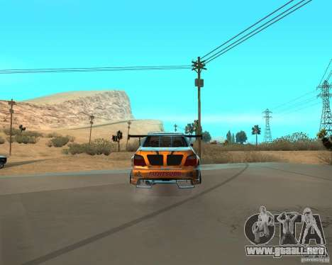 Subaru Impreza WRX Team Orange DRIFT SA-MP para GTA San Andreas vista posterior izquierda