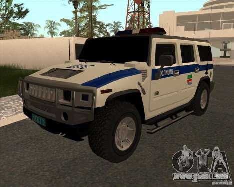 Hummer H2 DPS para GTA San Andreas
