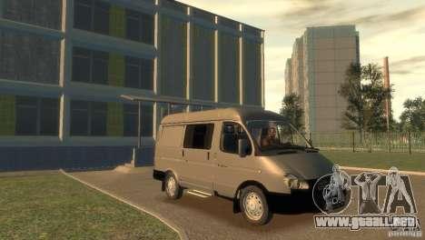 GAZ 2752 Sobol para GTA 4 vista hacia atrás