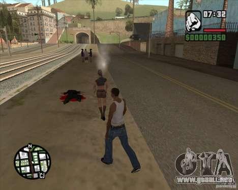 Los transeúntes explota cerebros para GTA San Andreas segunda pantalla