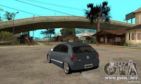 Volkswagen Gol G5 para GTA San Andreas vista posterior izquierda