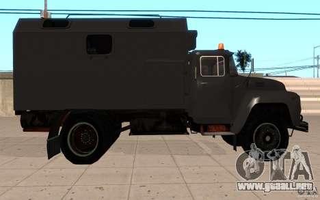 ZIL 130 Radio Butka para la visión correcta GTA San Andreas