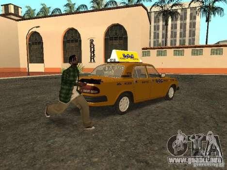 GAZ 3110 Taxi para GTA San Andreas vista posterior izquierda