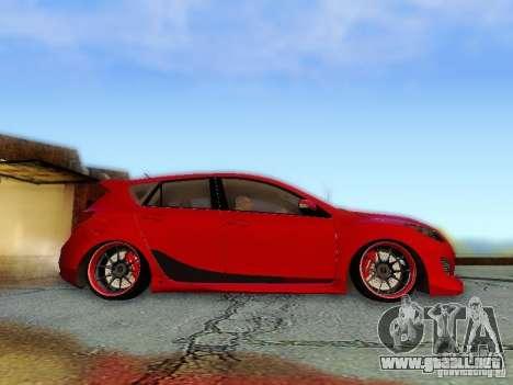 Mazda Speed 3 2010 para la visión correcta GTA San Andreas