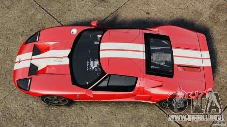 Ford GT 2005 v1.0 para GTA 4 visión correcta