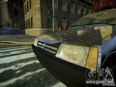 VAZ 2109 para GTA 4 vista hacia atrás