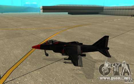 Black Hydra v2.0 para GTA San Andreas vista posterior izquierda