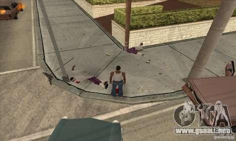 GTA SA Real ragdoll para GTA San Andreas segunda pantalla