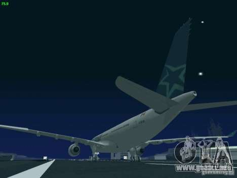 Airbus A330-200 Air Transat para vista lateral GTA San Andreas