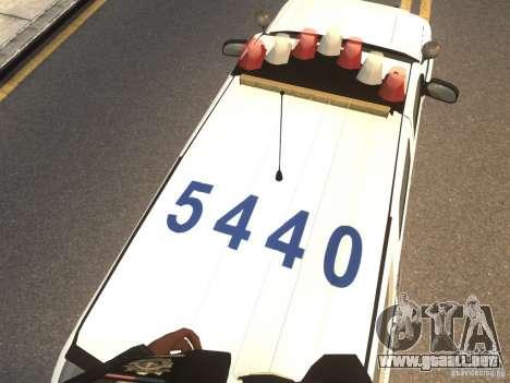 Chevrolet Tahoe NYPD V.2.0 para GTA 4 vista hacia atrás