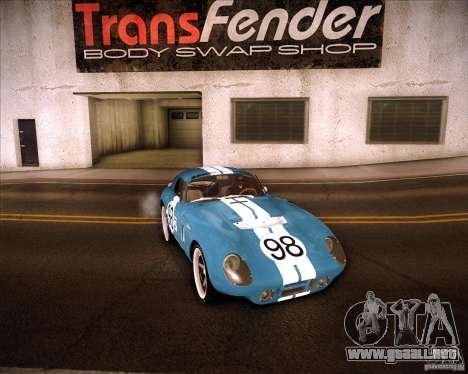 Shelby Cobra Daytona Coupe 1965 para GTA San Andreas vista hacia atrás