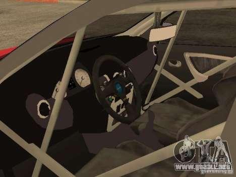 Dacia Logan Rally Dirt para GTA San Andreas vista posterior izquierda
