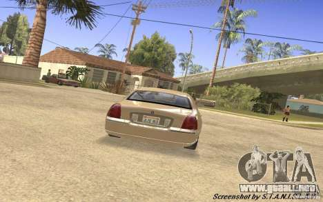 Lincoln Towncar Secret Service para la visión correcta GTA San Andreas