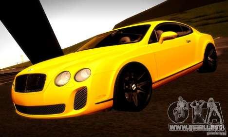 Bentley Continental Supersports para GTA San Andreas interior