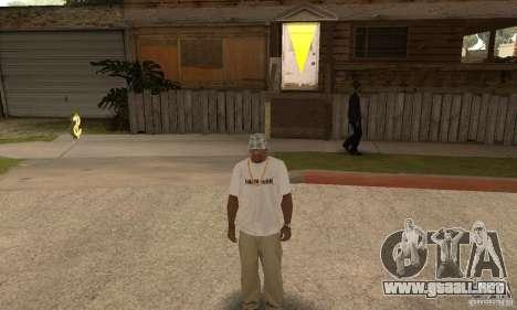 LP shirt white para GTA San Andreas tercera pantalla