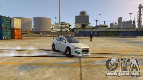 Mitsubishi Lancer Evo X para GTA 4 left