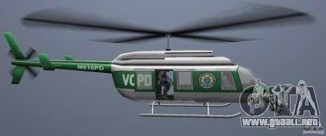 VCPD Chopper para GTA Vice City visión correcta