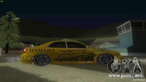Subaru Impreza WRX No Fear para la visión correcta GTA San Andreas