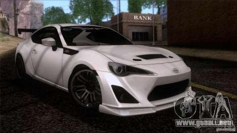 Scion FR-S 2013 para la visión correcta GTA San Andreas