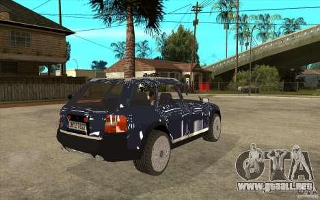 Audi Allroad Quattro para la visión correcta GTA San Andreas