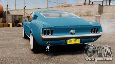 Ford Mustang Customs 1967 para GTA 4 Vista posterior izquierda