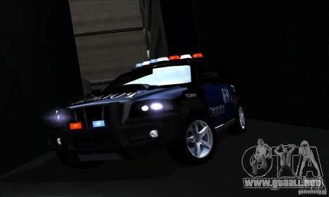 NFS Undercover Police SUV para la vista superior GTA San Andreas
