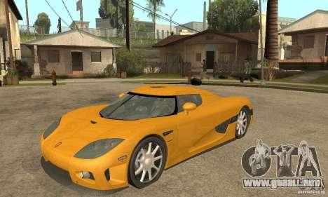 Koenigsegg CCX (v1.0.0) para GTA San Andreas