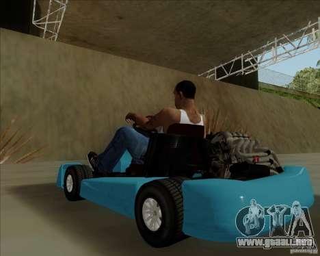 Kart para GTA San Andreas vista hacia atrás