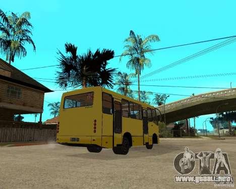 Bogdan Marshrutka A092 para la visión correcta GTA San Andreas