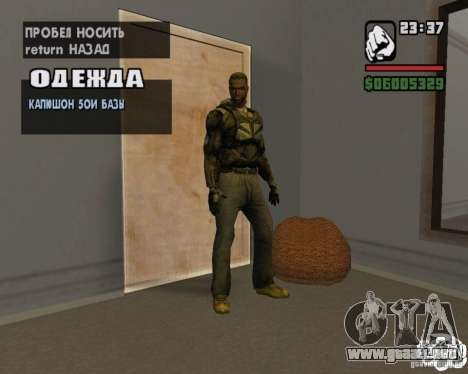 Ropa de un acosador para GTA San Andreas tercera pantalla