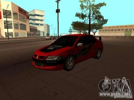 Mitsubishi Lancer Evolution 8 para visión interna GTA San Andreas