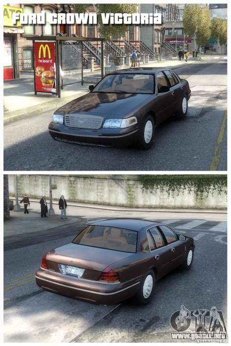 Ford Crown Victoria para GTA 4 left