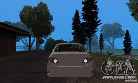 Toyota Corolla para GTA San Andreas vista hacia atrás