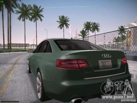 Audi RS6 2009 para GTA San Andreas vista posterior izquierda