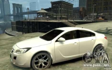 Opel Insignia OPC 2010 para GTA 4 left