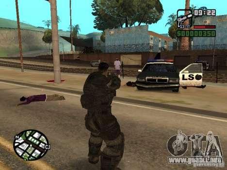 Dominic Santiago de Gears of War 2 para GTA San Andreas tercera pantalla