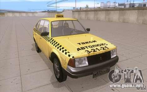 AZLK Moskvich 2141 Taxi v2 para GTA San Andreas vista hacia atrás