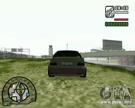 BMW E36 Wide Body Drift para GTA San Andreas vista posterior izquierda
