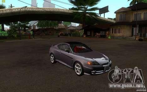 Hyundai Tiburon V6 Coupe 2003 para GTA San Andreas vista hacia atrás