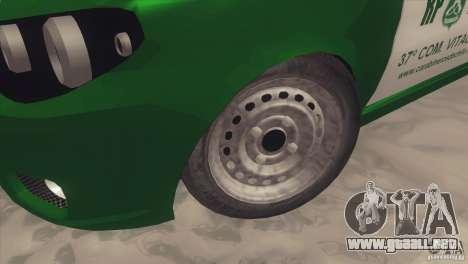 Fiat Siena Carabineros De Chile para GTA San Andreas vista hacia atrás