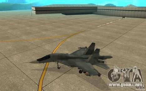 El Su-34 para GTA San Andreas vista posterior izquierda