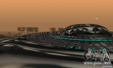 UFO para GTA San Andreas vista posterior izquierda