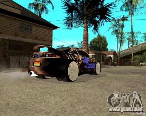 Mitsubishi Eclipse RZ 1998 para GTA San Andreas vista posterior izquierda