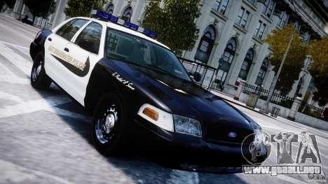 Ford Crown Victoria Massachusetts Police [ELS] para GTA 4 vista superior