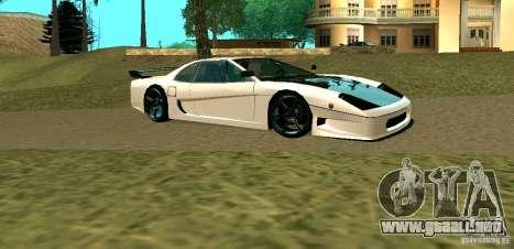 New Turismo para GTA San Andreas vista posterior izquierda