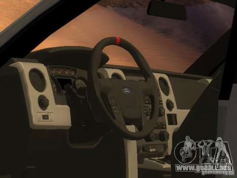 Ford F-150 Sargento Federal Edition para GTA San Andreas vista posterior izquierda