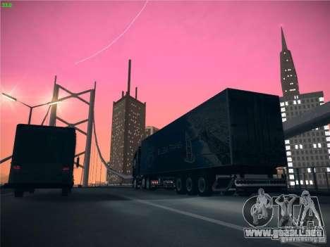 Remolque para el transporte del Scania R620 Duba para visión interna GTA San Andreas
